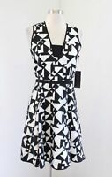 Hunter Bell New York Anthropologie Black White Embroidered Fit and Flare Dress 2