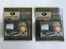 ( LOT OF 2 ) MOSSY OAK 4-IN-1 CAMO FACE PAINT HUNTING ACCESSORIES OLIVE Drab Bro