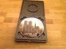 Limoges Louie Dali placa de edición limitada 21.5cm la Cathedrale Noire Dame En Caja