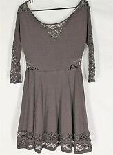 WOMENS PURPLE DRESS SMALL Lace Design Victorian Boho Festival S