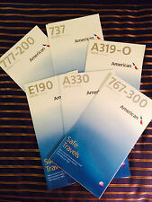 10 New logo American Airlines Safety Cards Random mix of Airbus, Boeing, Embraer
