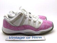 Girls Nike Air Jordan XI 11 Low Pink Snakeskin Retro GS 2013 sz 7Y