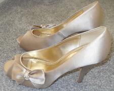 Blusher bow trim wrapped peep toe platform shoes in size UK5/38