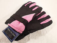 Gloves Womens S Rugged Wear Ski Winter Snow Waterproof Insert Small Pink new