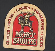 """BIERE """"MORT SUBITE"""" GUEUZE KRIEK CASSIS FRAMBOISE PECHE / SOUS-BOCK"""