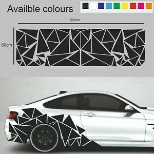 Triangles Sport Racing Car Van Stripes Styling Stickers Decals Vinyl Graphics