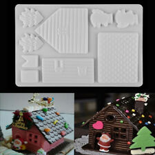 Christmas House Chocolate Candy Cake Decorating Sugarcraft Baking Mould Tools