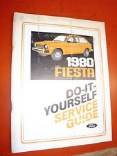 1980 FORD FIESTA ORIGINAL FACTORY DO IT YOURSELF MANUAL REPAIR SERVICE SHOP