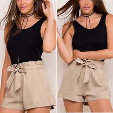 Women's Ruffle Frill Hight Waist Tie Shorts Summer Short Mini Trousers Hot Pants