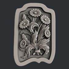 3d STL models for CNC, Artcam, Aspire, relief flower