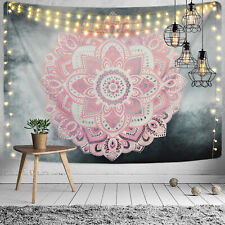 Mandala Tapestry New Art Wall Hanging Pink Flower Throw Tapestry Home Decorative