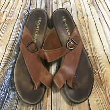 Eastland Womens Size 10M Tahitit II Brown Leather Thong Toe Sandals
