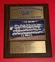 1955 BROOKLYN DODGERS World Series Champions Vintage Wood Plaque MLB Baseball