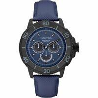 NAUTICA orologio da polso uomo blu pelle cronografo a18644g sub diving sport