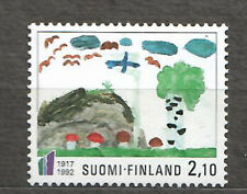 FINLAND  1992 -Scott 896** - Child's Painting (Mushrooms, Fungi)