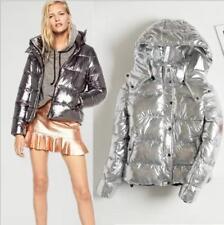 Neu Damen winterjacke Mode Mäntel Glänzend daunenjacke Blazer Bolero Taile Parka