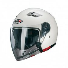 Casque Helmet Moto/Scooter  Jet / Modulable SHIRO SH-414 System  BLANC Brillant