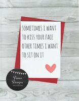 funny anniversary card, humour rude, for boyfriend, husband love birthday gift