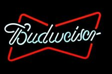 "New Budweiser Bow Tie Beer Neon Light Sign 14""x10"""