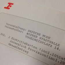 DEPECHE MODE ticket, 1993. Devotional Tour, Vienna, Austria