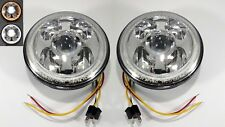 "Pair Premium 7"" High Power CREE LED Projection Headlight - Dual Color Halo Ring"