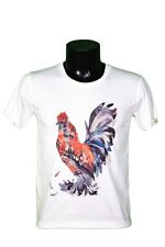 T-SHIRT COQ - ANIMAL - ROOSTER - ILLUSTRATION - DRAWING - ART - TAILLE L