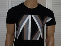 Armani Exchange Authentic Racing Stripe Logo T Shirt Black NWT
