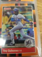 Rey Quinones Seattle Mariners Baseball's Best Donruss 1988 Leaf Ungraded