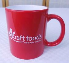 """Kraft Food Red/White Coffee Mug/Cup """"Make Today Delicious"""""""