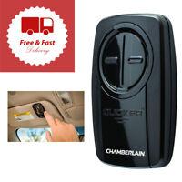 Clicker Universal 2-Button Garage Door Opener Remote Visor Clip Keypad Black New