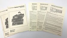 2 Motorola M100 M200 Radio Owner's Manual & 3 Operating Instruction Cards