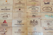 6 x Wine Box End Panels ~ Wooden. Crate, Side, Plaque. Decoration. Home Bar.