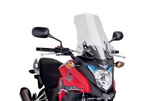PUIG WINDSHIELD TOURING FOR HONDA CB500X 13-15 CLEAR