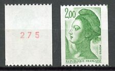 STAMP / TIMBRE FRANCE NEUF N° 2487a ** TYPE LIBERTE / ROULETTE n° rouge au dos