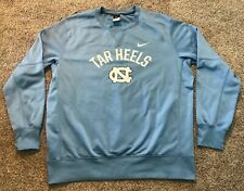 Mens XL Nike North Carolina Tarheels Therma Dri-Fit Pullover Crewneck Sweatshirt