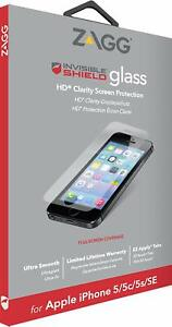 ZAGG iPhone 5 5s 5c, SE 2016 InvisibleShield 9H Tempered Glass Screen Protector