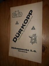 original Werbung Reklame Annonce Dürkopp Bielefeld Fahrad Nähmaschine 1916