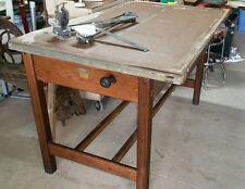 Antique Hamilton Oak Drafting-Drawing Desk,Tilt top Table,Wood Architect-Artist