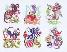 Paper Cuts Mouse Set Colorful 10 small Single pieces Zhou 2 packets Lot