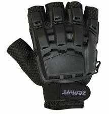 Zephyr Tactical Half-Finger Gloves Black Large X-Large