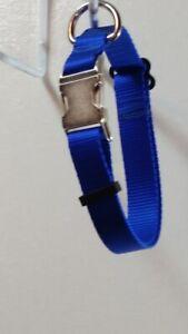 "Adjustable 1"" Webbing Dog Collar Strong, Heavy Duty USA Handmade Metal Hardware"
