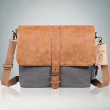 NiceEbag Leather 15.6 inch Laptop Messenger Shoulder Bag Vintage Work Briefcase