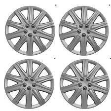 "14"" Universal Wheel Trim Hub Caps Car Van Trailer 4pc set Silver Plastic Boston"