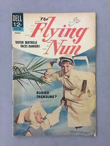 The Flying Nun Comic Book Dell #3 August 1968 Vintage Sally Fields TV Series