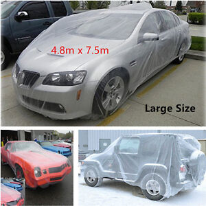 Large Plastic Disposable SUV Auto Car Body Cover Rain Dust Snow Garage Universal