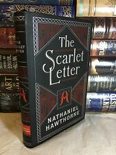 THE SCARLET LETTER by NATHANIEL HAWTHORNE Leatherbound Collectible & BRAND NEW