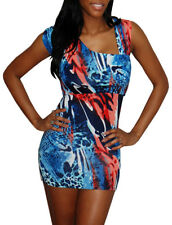 Ocean Fire asymmetric shoulder bodycon top / dress, size M (fits sizes 10-12)