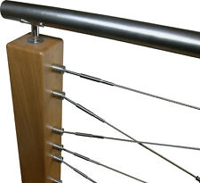 DIY Stainless Steel Cable Assemblies for wooden post