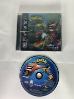 Crash Bandicoot: Warped, (Sony PS1 Game, 1998)  CRACK IN CASE.