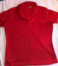 NIKE GOLF Women's Ladies Red Dri-Fit T-Shirt Shirt Red Size XL Collared Polo